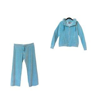 🆕 NWOT Juicy Couture VTG Velour Blue Track Suit